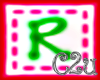 C2u letter R Sticker