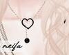 🌸 Heart Necklace BLKG