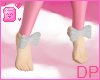 [DP] Feetsie Bows~ White