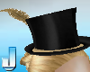 Burlesque Hat - Gold