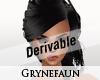 Derivable messy hair