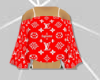 Red LV Top