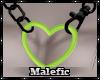 ⛧: Heart Chain Green M