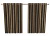 Jag-Brown Stripe Curtain