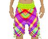 Plaid Couple Shorts M