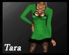 Winter Fur Dress Green