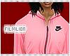 F' Pink Nike Zip Hoodie