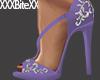 Jewelled Heels Purple