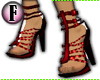 F! - Gladiator Heels Red