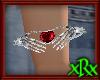 Skel Heart Bracelet Ruby