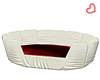 White and Red Pet  Bed