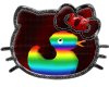 Rainbow animated duckie