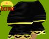 blk+yellow puff shorts