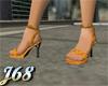 J68 Gold Strappy Heels