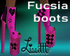Pink Fucsia boots PUNK