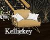Christmas Gold Chair