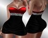 AF Black Red Sexy Dress