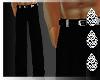 (I) Black Tuxedo Pants