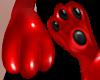 B! Paw PVC Red mittens