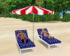 July 4th Beach Loungers