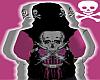 *CA* Pink S Skull Hoodie