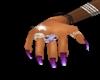 long purple nail