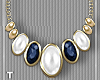 Navy White Necklace