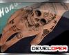 :D Skull Hand Tattoo
