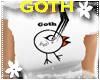 *S* Goth Chick White