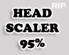 R. Head scaler 95% M