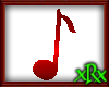 Music Note 1 Red
