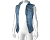 Blue Denim Layer Vest M