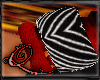 !Q Red and Zebra Band L