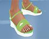 Green n white sandals