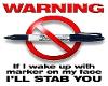 Sharpie Warning