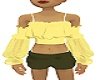Yellow Summer Gypsy Top