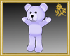 Outline Purple Teddy