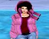 Girls Pink Down Coat