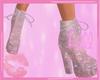 f. Pink Glitter Boots