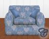 Blue Floral Madrid Chair