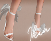 !A white bow shoes