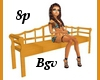 Modern Wood Bench 8p