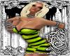 {E}Stripe Lime Dress