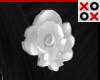 White Rose Hair Clip - L