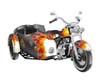 Harley Sidecar Flames