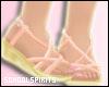 ❥ peach sandals