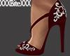 Jewelled Heels red