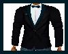 Black & Teal Tux Jacket