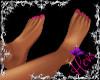 Flat feet ~ pink nails