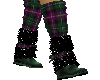 Plaid sock boots